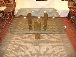 brass glass dining table milo baughman style brass and glass dining table with lucite base
