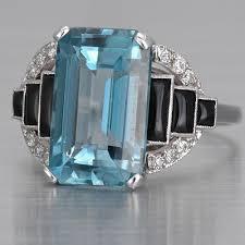 antique aquamarine ring art deco aquamarine ring