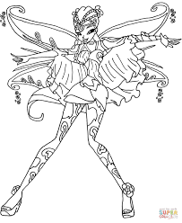 coloring book pages winx club bloomix flora coloring page free printable pages with winx club
