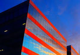 Geometric Flag Wallpaper Architecture Abstract Building Reflection Sky