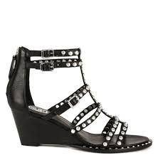 shop avalon sandals in black leather at ash footwear online today