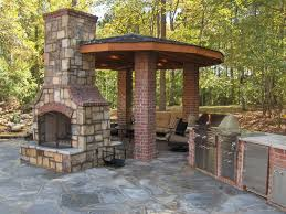 small outdoor brick fireplace the great combination for the