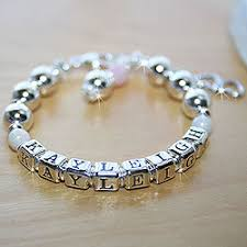 customized baby bracelets beadifulbaby personalized bracelets for