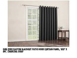 Patio Door Curtain Panel Top Best Seller Patio Door Curtains 100 X 84 Charcoal On Amazon