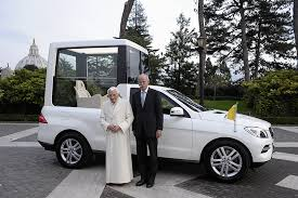 mercedes customized mercedes delivers popemobile exclusively customized for