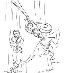 tangled coloring pages flynn rapunzel coloring pages