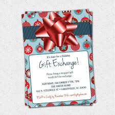 xmas gift christmas gift exchange invitation email template
