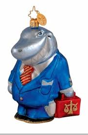 christopher radko jaws of justice ornament lawyer ornament out