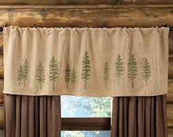Curtains For A Cabin Highlands Cabin Tree Rod Pocket Valance