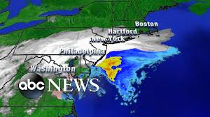 New York Washington Map by Snow Shuts Down Washington D C New York City Youtube