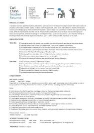 Resume Samples For Teacher by Teacher Cv Template Lessons Pupils Teaching Job Coursework
