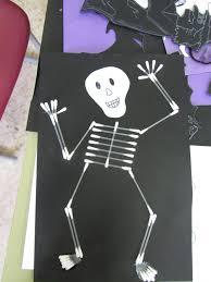 Halloween Skeleton Craft by Meghaninspain Living Subjunctivelessly