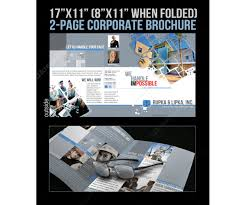engineering brochure templates free 2 pages corporate brochure template for construction industry