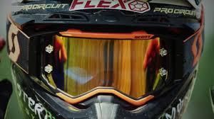 motocross goggles tinted scott prospect goggle youtube