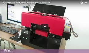 edible printing system digital marshmallow edible food printer with edible ink ant print