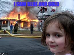 Creepy Girl Meme - i saw blue and gold creepy girl imgflip