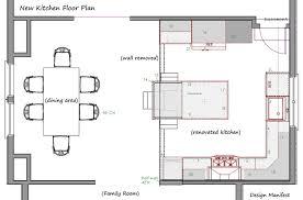 U Shaped Kitchen Floor Plans by Kitchen Floor Plans Kitchen Island Design Ideas 3858