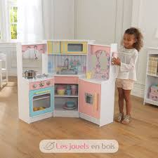 deluxe cuisine kidkraft 53368 deluxe corner play kitchen a wooden kitchen for