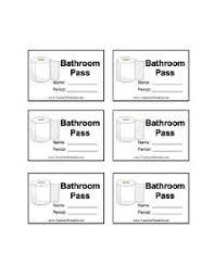 Bathroom Pass Ideas Bathroom Passes Printable Paso Evolist Co