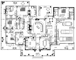 farmhouse floor plan floor plans aflfpw13992 1 story farmhouse home with 4 bedrooms