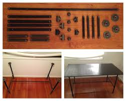 Make A Reclaimed Wood Desk by Diy Industrial Galvanized Pipe Desk Make The Base From Pipe Parts