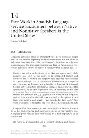 face work in spanish language service encounters between native
