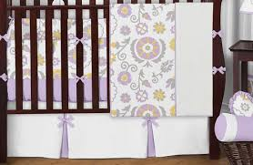 White Crib Set Bedding Lavender And White Suzanna Baby Bedding 9pc Nursery Crib Set