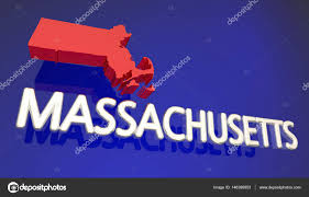 Massachusetts State Map by Massachusetts State Map U2014 Stock Photo Iqoncept 146390853