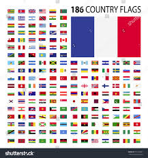 Conutry Flags World Country Flags Icon Vector Illustration Stock Vector