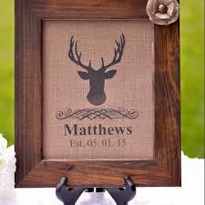Custom Burlap Art Print Love - best wood deer wall decor products on wanelo
