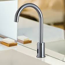 Automatic Bathroom Faucet by Brass Automatic Sensor Chrome Finish Bathroom Sink Faucet