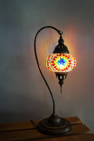 sun mosaic table lamp the dancing pixie