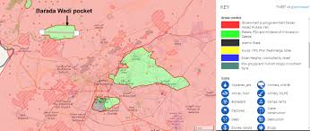 Damascus Syria Map by Bellingcat Wadi Barada What Happened To Damascus U0027s Water