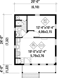 Floor Plans For A Cabin Cabin Style House Plan 1 Beds 1 00 Baths 480 Sq Ft Plan 25 4286