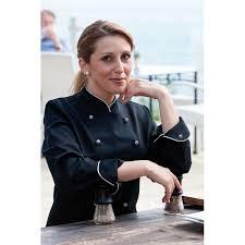 cuisine femme veste chef de cuisine pour femmes manches longues passepoil