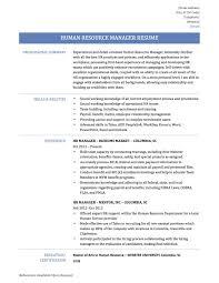 Hr Generalist Resume Samples Human Resource Safety Benefits