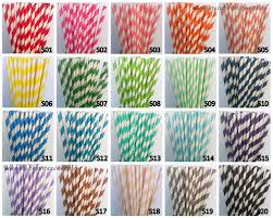 color paper 100 paper straws pick your color paper straws with free