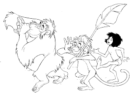 jungle book coloring pages coloring pages kids