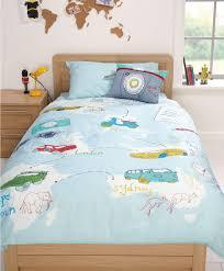 housse couette montagne kids boys map single duvet cover and pillowcase set new
