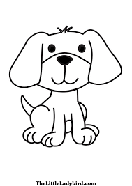 coloring puppy pages ladybird cute pictures