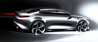 porsche concept sketch 2016 kia optima previewed in wild new concept autoguide com news