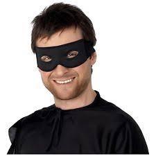 black eye mask superhero burglar zorro costume accessory