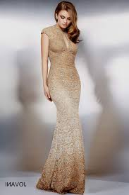 gold evening dresses with sleeves dress images
