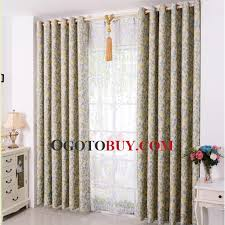 Leaf Pattern Curtains Colorful Green And White Leaf Pattern Full Length Curtains Buy