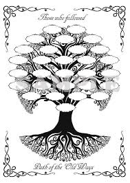 book shadows blank pages print celtic family tree