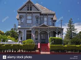 william andrews victorian style house in napa california stock