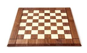 Modern Chess Table Chess Board In Walnut Zontik Games
