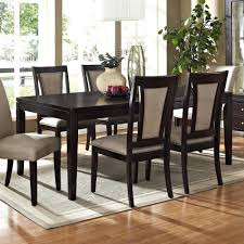 shaker dining room chairs shaker espresso 6 piece dining table set with bench alasweaspire