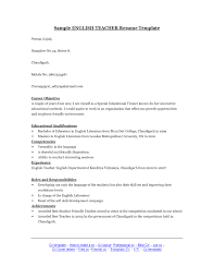 Career Objective For Resume For Fresher Resume Templates Google Docs In English Resume For Your Job
