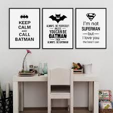 affiche chambre garcon héros impressions affiche noir blanc typographie